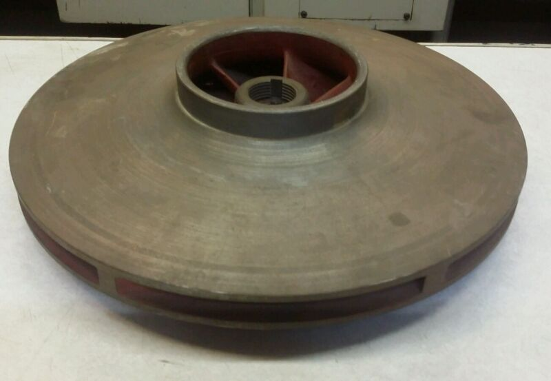 """Cast Iron Impeller 12.750""""ODx1.180""""Bore (30mm) with 5/16"""" Keyway"""