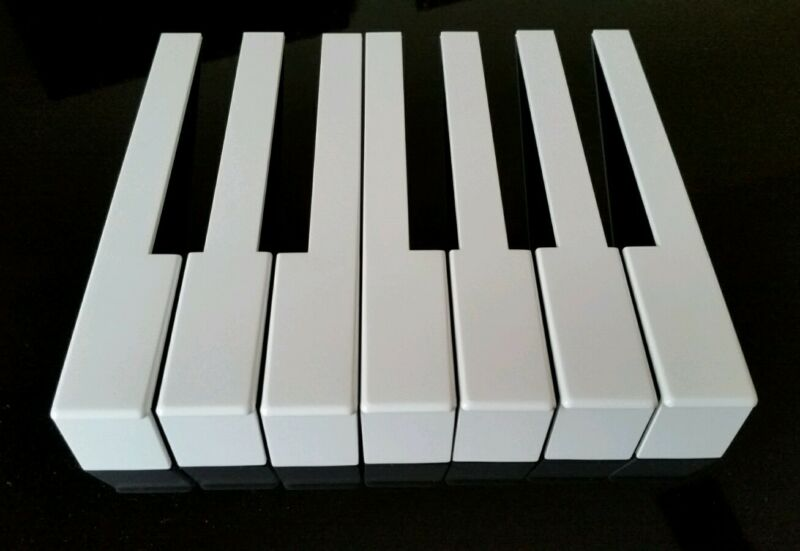 German Piano Keytops Full Set with Front Piano Keytop Replacement Light Cream