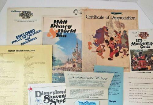 Rare Vintage Disney World Cast Member HUGE Lot of Employee Items Handbook Pass