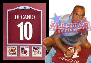 FRAMED PAOLO DI CANIO SIGNED WEST HAM UNITED 10 SHIRT