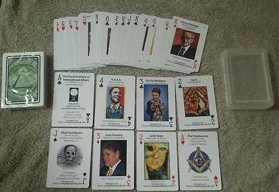 Illuminati  New World Order Playing Cards Lady Gaga  Obama  Skull And Bones