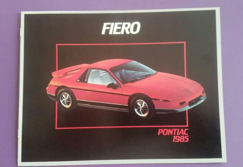1985 Pontiac Fiero Canadian  brochure in English