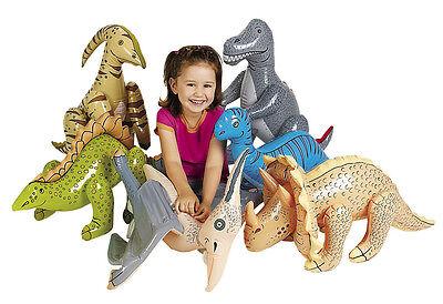 6 JUMBO Dinosaur Inflates BLOW UP INFLATABLE TRex Brontosaurus Party Favor