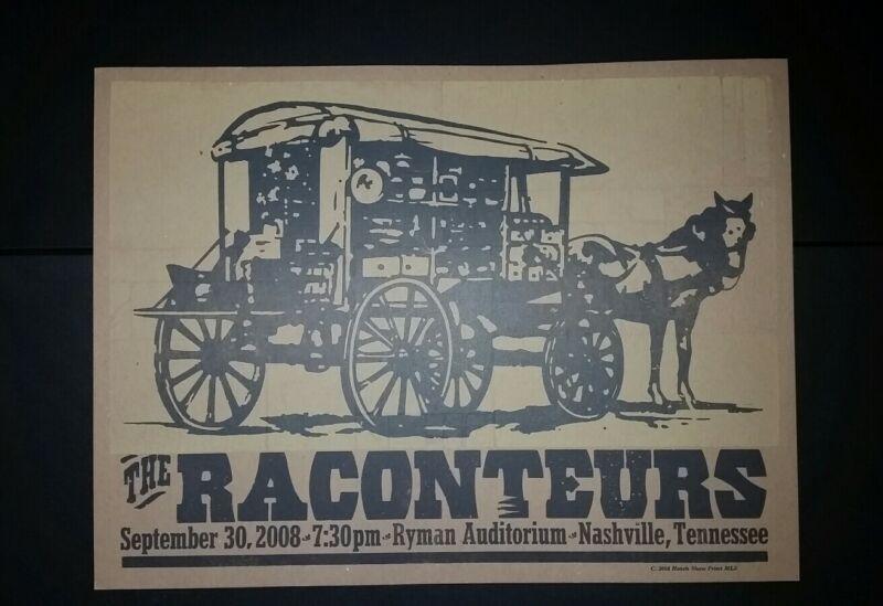RACONTEURS Ryman 2008 HATCH SHOW PRINT Nashville Poster Jack White Stripes Horse