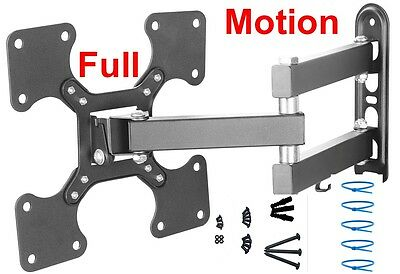FULL MOTION Corner TILT SWIVEL LED LCD TV WALL MOUNT BRACKET 24
