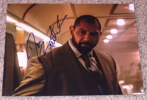 DAVE BAUTISTA SIGNED AUTOGRAPH SPECTRE GUARDIANS OF THE GALAXY 8x10 PHOTO wPROOF