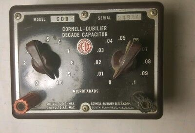 Cornell-dubilier Electronics Cdb-5 Decade Capacitor Capacitance -1uf 0.09uf