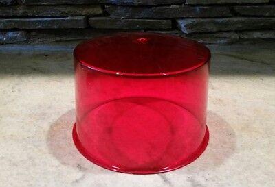 Vintage NOS Dietz 234 Red Beacon Lens 8-3/8