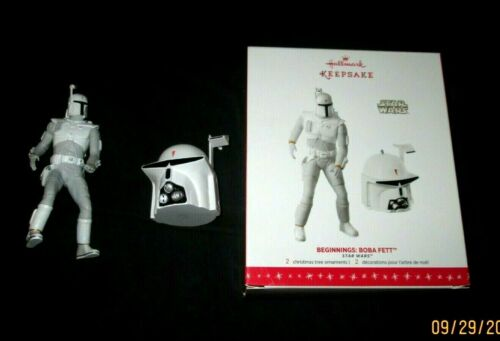 HALLMARK ORNAMENT STAR WARS 2016 BEGINNINGS SDCC BOBA FETT~LEG REPAIRED~BOX GOOD