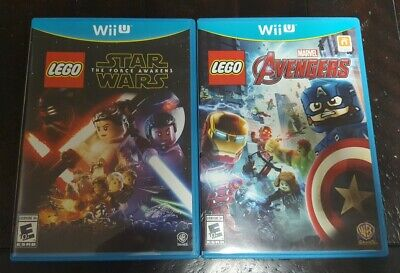 Wii U Lego Marvel AVENGERS & Star Wars FORCE AWAKENS Complete w/ Case & Manual