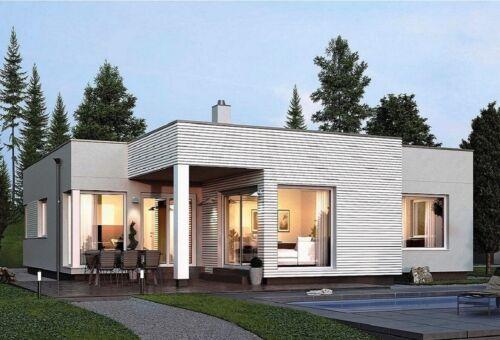 V-533| Custom 3 Bedroom with 3 bathroom modern one story House plan bungalow