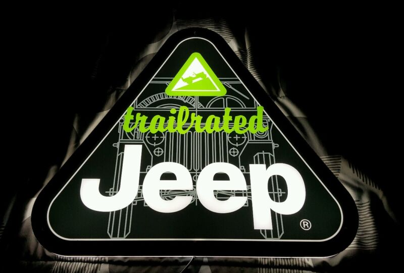 Jeep Trail Rated LED lighted sign