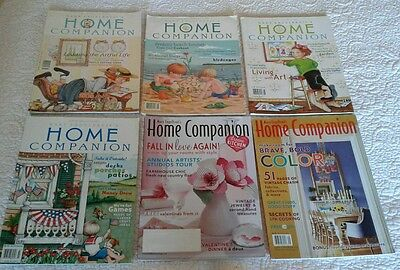 Lot of 6 MARY ENGELBREIT'S HOME COMPANION Magazine All w/ Paper Dolls ~