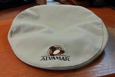 Alvamar Golf Country Club Beanie Newsboy Cabbie Tan Hat Adjustable Kansas - Newsboy Beanie