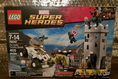 LEGO Marvel Super Heroes 76041 The Hydra Fortress Smash Avenger Hulk Quicksilver
