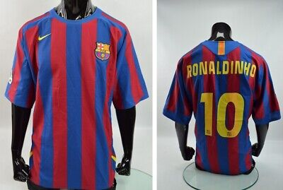 27fa9ecb Barca 2005-06 nike FCB Barcelona Home Shirt RONALDINHO R10 SIZE 2XL-XXL  adults