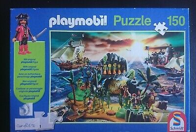 Playmobil Pirate Island Jigsaw; 150 Pieces - 432 x 291mm Complete VGC Age 7+