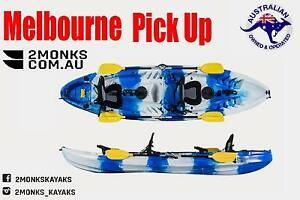 Kayak 2.5 Double Sit On 3.7M incl Rod Holders Deluxe seat Paddle Wantirna South Knox Area Preview