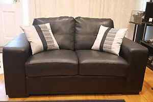 2 seater leather look sofa Scoresby Knox Area Preview