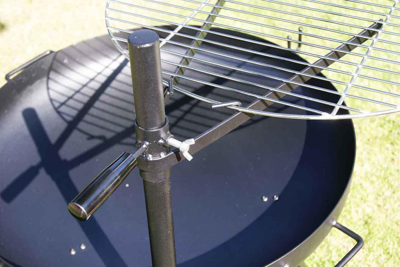 B-Ware massive 70cm Feuerschale mit Edelstahl Schwenkgrill 60cm Grill Grillrost