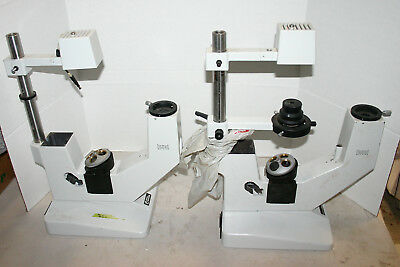 Hund Wetzlar Microscope Parts H600 500 Wilovert Inverted Etc. Lot Of 4 Frames