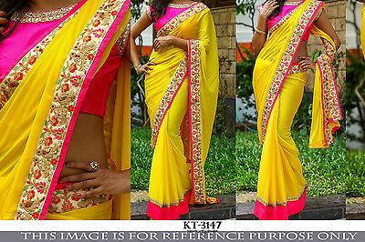 NEW DESIGNER SARI INDIAN SAREE ETHNIC BOLLYWOOD PAKISTANI WEDDING PARTY WEAR