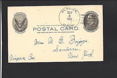 Montanas Flat Head (GLACIER, MONTANA ,1912,GOVERNMENT POSTAL CARD. FLAT HEAD CO. DPO: 1909/13. )