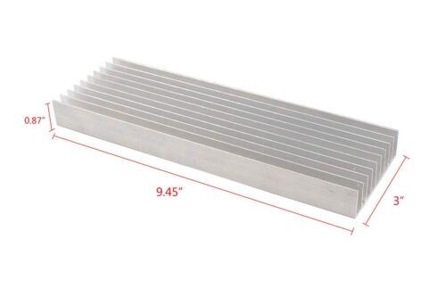 "Universal Aluminum Heatsink Sink Power Triode FET LED SSR 9.45""x3""x0.87"" A564"