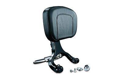 Kuryakyn Chrome & Black Multi-Purpose Driver & Passenger Backrest Harley & Victo