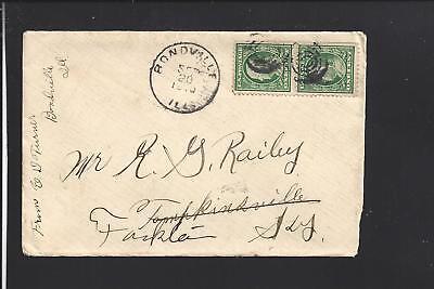 Bondville Illinois 1910 Cover   Letter To Ky  Champlaign Co 1872 Op