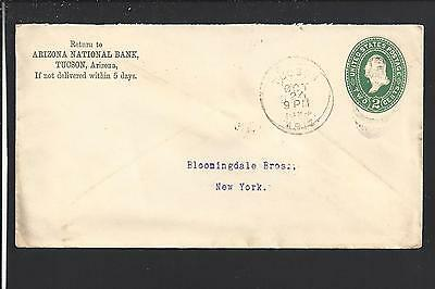Tucson Arizona 1894 Territorial Cancel  Advt  Arizona National Bank