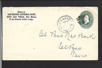 East Las Vegas  New Mexico  1890S Territorial Cl  San Miguel National Bank Advt