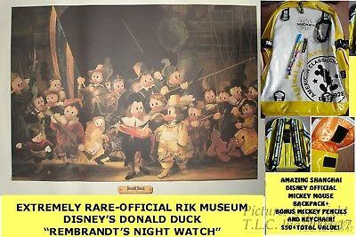 NEW HOLLAND RIJKSMUSEUM DISNEY DONALD DUCK REMBRANDT NIGHT WATCH PRINT/PAINTING