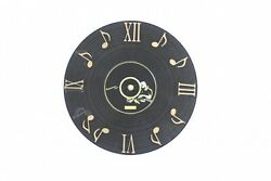12 Inch Classic DIY Modern Note Vinyl CD Dial Music Wall Clock 3D
