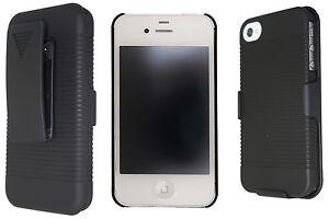 Oker-Hard-Rubberized-Case-Belt-Holster-For-iPhone-4-or-5-Black-or-White