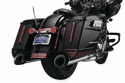 Kuryakyn Black Wedge saddlebag Accents Harley-Davidson FLH  1993-2013 K7263
