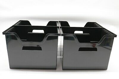Iris Desktop File Box 4 Pack Large Black - Preowned