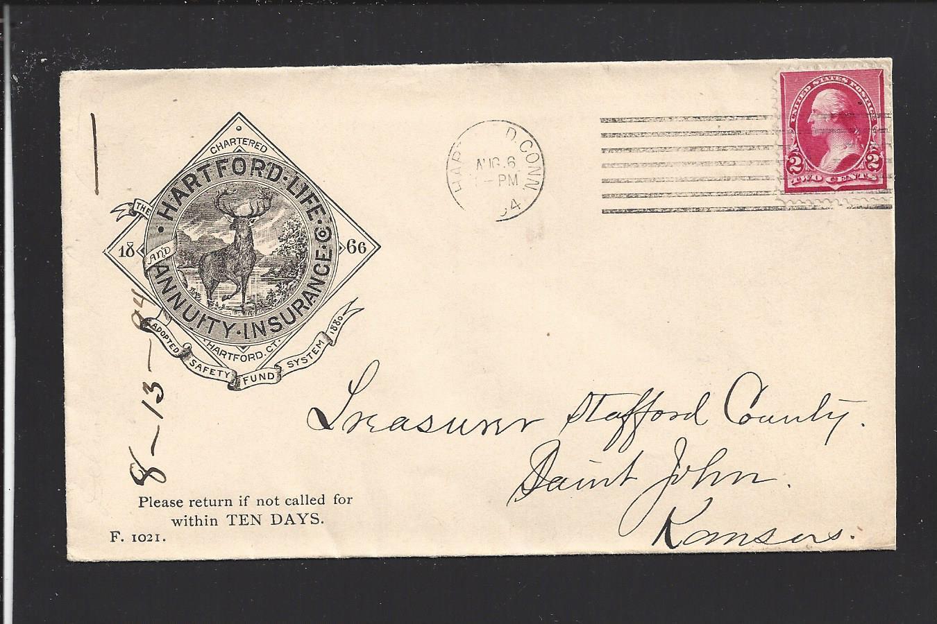 Hartford Annuity Login >> Details About Hartford Connecticut 1894 220 Advt Cover Hartford Life Annuity Insurance