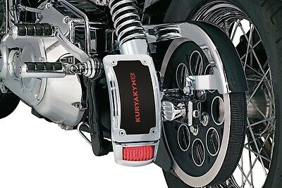 Kuryakyn Chrome Curved Vertical License Side Plate Tail Brake Light Mount Harley
