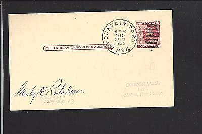 Santa Fe  New Mexico 1903  Government Postal Card  Territorial Cl  Bank Advt