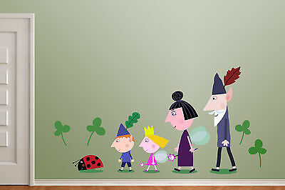 Ben & Holly Wall Sticker / Vinyl Picture LARGE