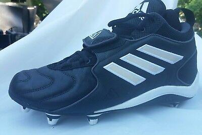 new concept be426 283b7 Adidas black mid football cleat Sz 9 Retro 2000