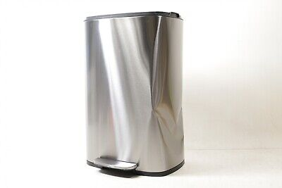 iTouchless SoftStep 13.2 Gallon Step Trash Can with Odor Fil PC13RSS - Preowned