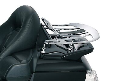 Kuryakyn 7158 Luggage Rack Risers Gloss Black Gold Wing: '01-'19 GL1800  - Kuryakyn Luggage Rack