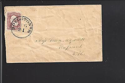 For sale BOYLSTON, MASSACHUSETTS #65 VF+ COVER, WORCESTER CO DPO, 1828/03.