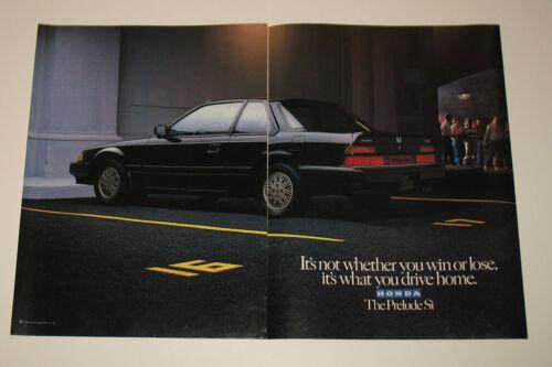 1986 Honda Prelude Si Drive Home 2pg Print Advertisement