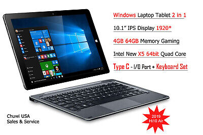 "ChuwiUSA Hi10 AIR 2K IPS 10.1"" 4GB/64GB Windows 10 Tablet PC +Keyboard set comprar usado  Enviando para Brazil"