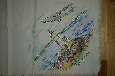 Pease AFB New Hampshire Vintage scarf mid century with Airplane white PERFECT!