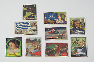 Lot of 9 1956-1977 Topps Vintage Trading Cards - Elvis Star Wars Flags Space