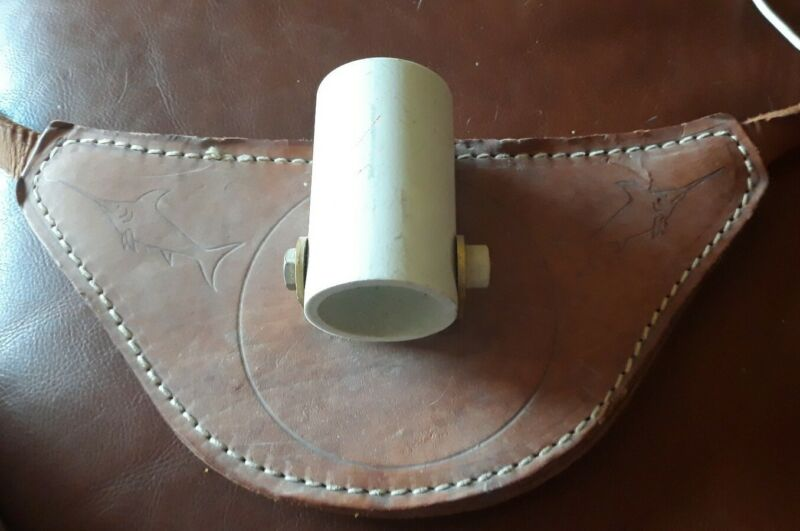 Vintage Leather Deep Sea Fishing Rod Holder Rod holster Fighting Belt